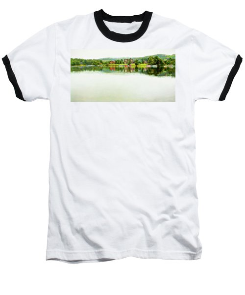 Cloudy Day On The Lake Baseball T-Shirt