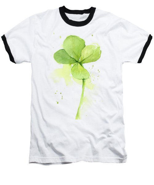 Clover Watercolor Baseball T-Shirt