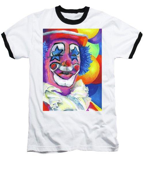 Clown With Balloons Baseball T-Shirt