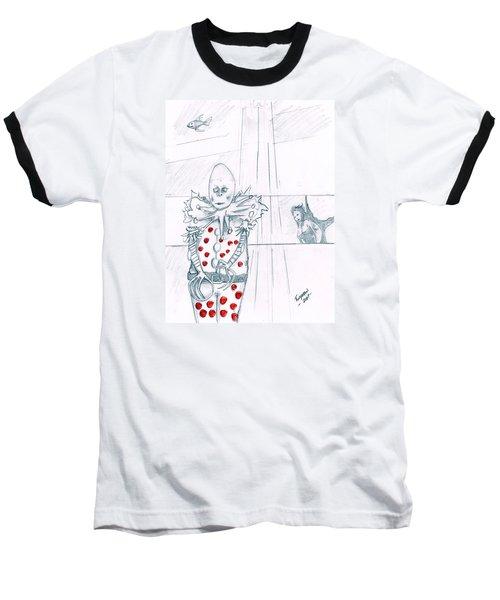 Clown With Crystal Ball And Mermaid Baseball T-Shirt