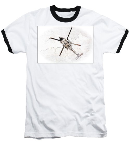 Coast Guard Helicopter Baseball T-Shirt by Aaron Berg