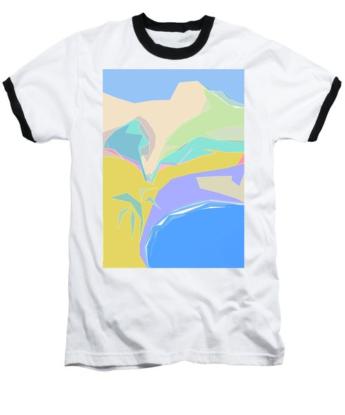 Coast Of Azure Baseball T-Shirt