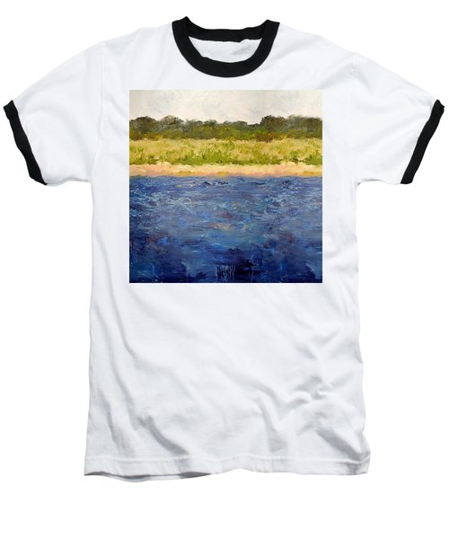 Baseball T-Shirt featuring the painting Coastal Dunes - Square by Michelle Calkins