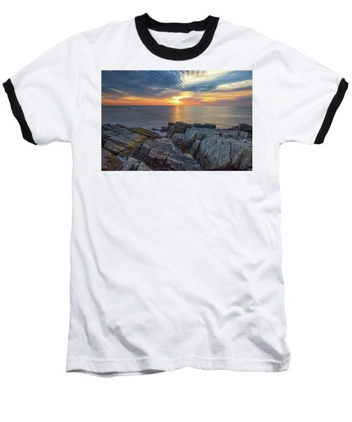 Coastal Sunrise On The Cliffs Baseball T-Shirt