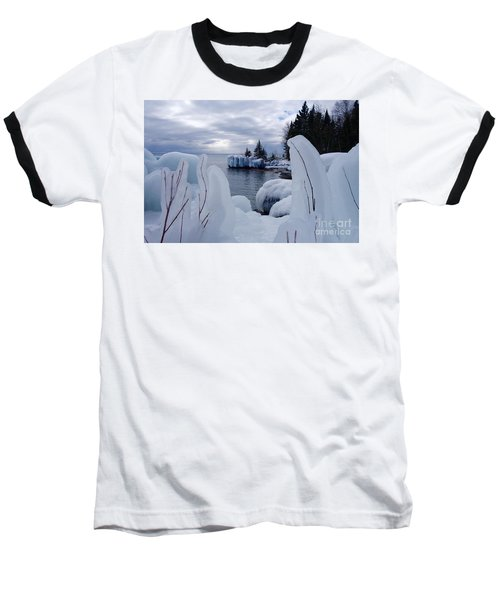 Coated With Ice Baseball T-Shirt by Sandra Updyke
