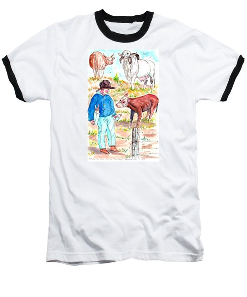 Coaxing The Herd Home Baseball T-Shirt