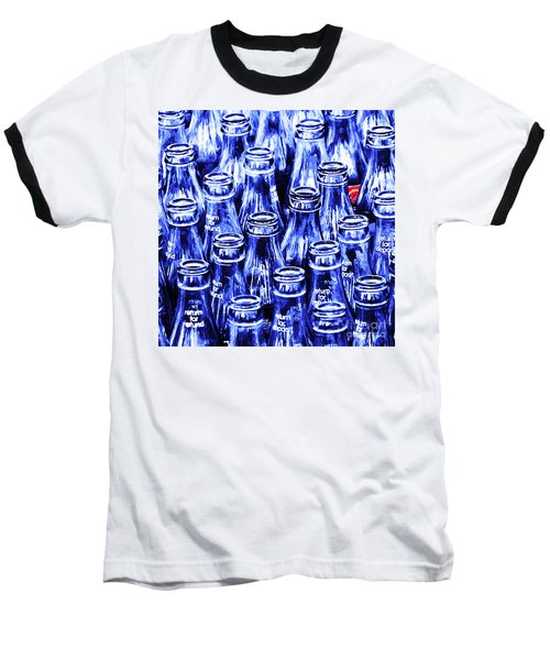 Coca-cola Coke Bottles - Return For Refund - Square - Painterly - Blue Baseball T-Shirt