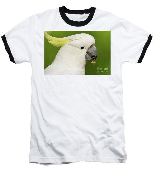 Cockatoo Close Up Baseball T-Shirt by Craig Dingle