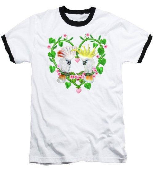 Cockatoos Of The Heart Baseball T-Shirt by Glenn Holbrook