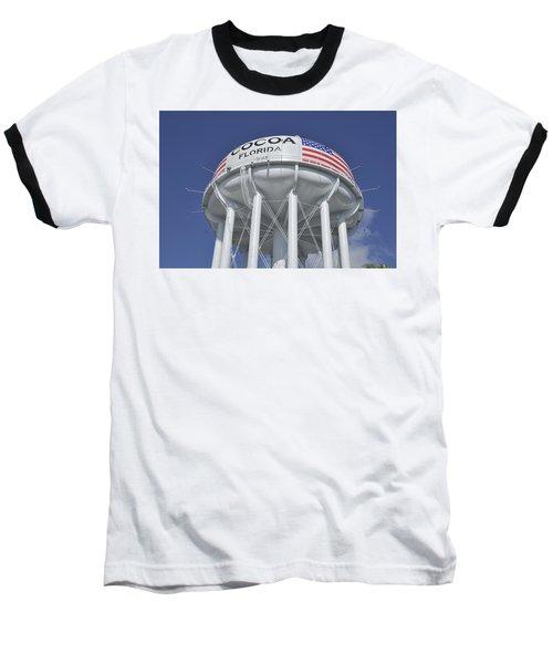 Cocoa Florida Water Tower Baseball T-Shirt