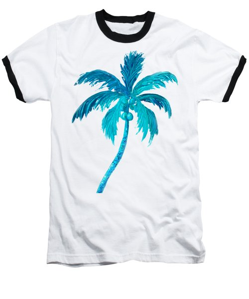 Coconut Palm Tree Baseball T-Shirt by Jan Matson