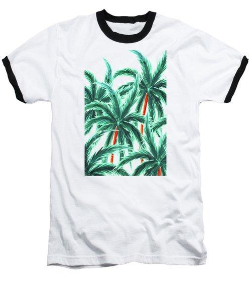 Coconut Trees Baseball T-Shirt by Uma Gokhale