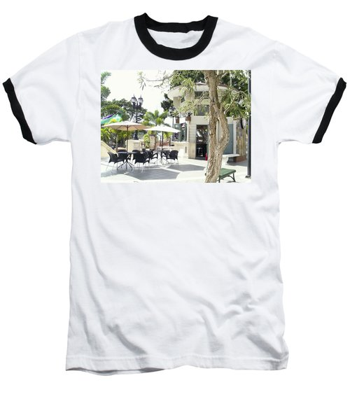 Coffee Lover's Expresso Bar At The Moll Boscana Town Square Baseball T-Shirt