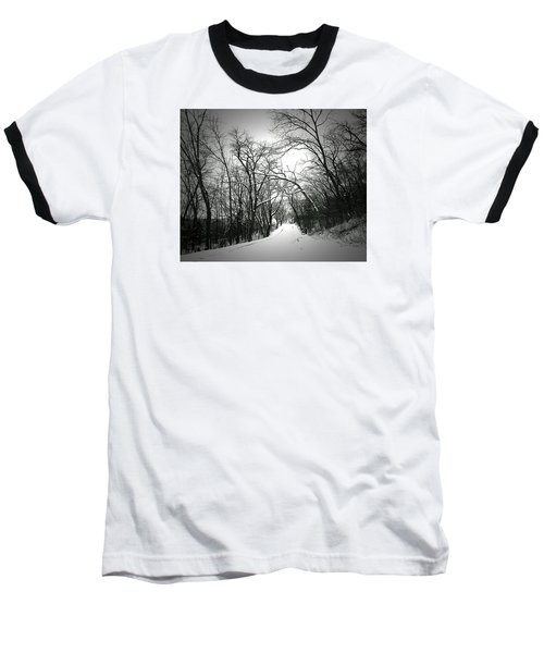Cold Black Road Baseball T-Shirt