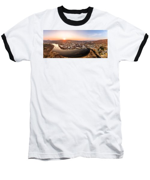 Colinsville, Connecticut Sunrise Panorama Baseball T-Shirt