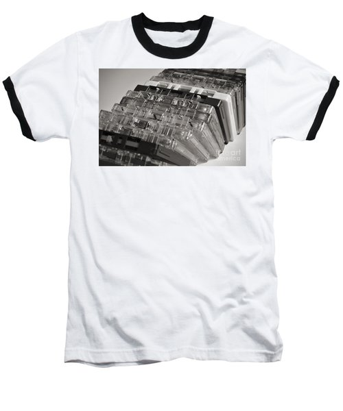 Collection Of Audio Cassettes With Domino Effect Baseball T-Shirt