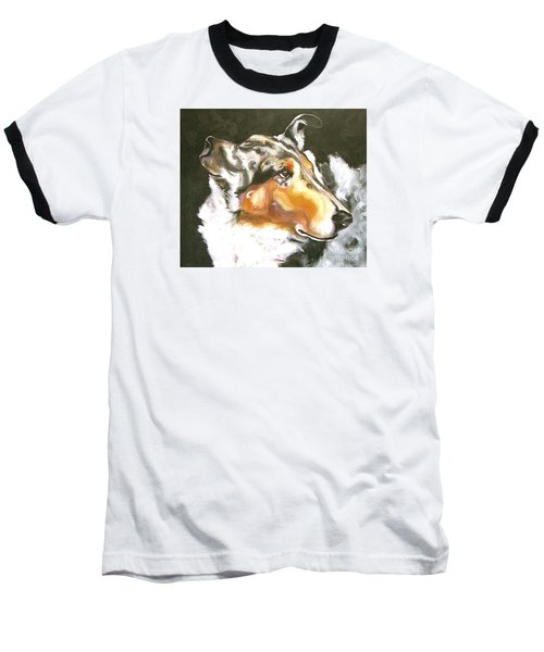 Collie Merle Smooth 2 Baseball T-Shirt