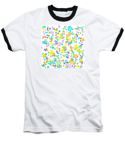 Color Blots Baseball T-Shirt