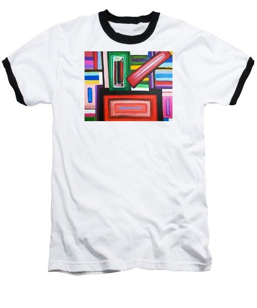 Color Squares Baseball T-Shirt by Jose Rojas