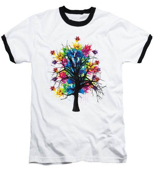 Color Tree Collection Baseball T-Shirt by Marvin Blaine