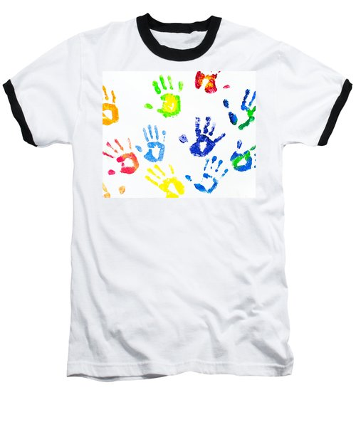 Baseball T-Shirt featuring the photograph Colorful Arm Prints Abstract by Jenny Rainbow