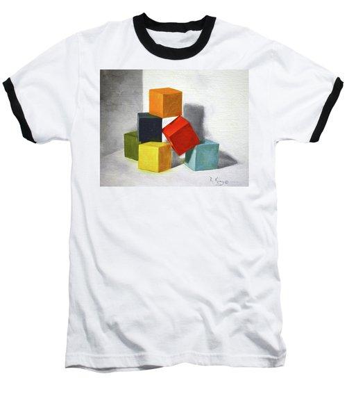 Colorful Blocks Baseball T-Shirt