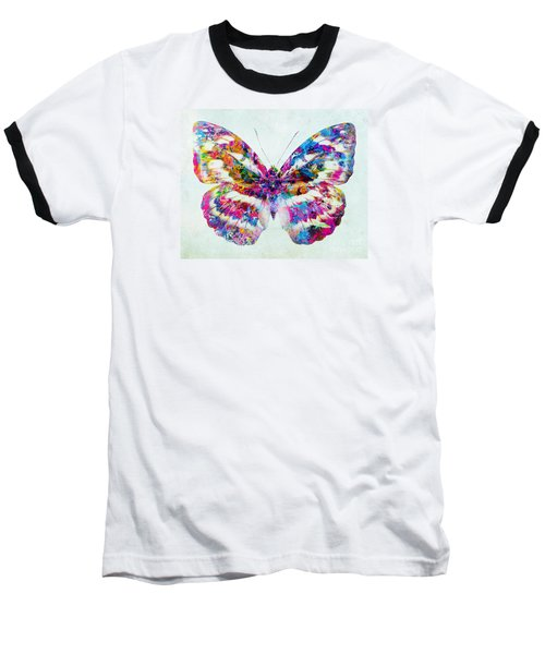 Colorful Butterfly Art Baseball T-Shirt