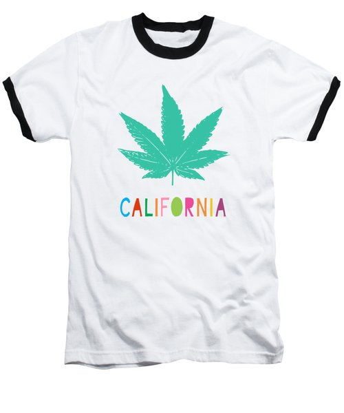 Colorful California Cannabis- Art By Linda Woods Baseball T-Shirt