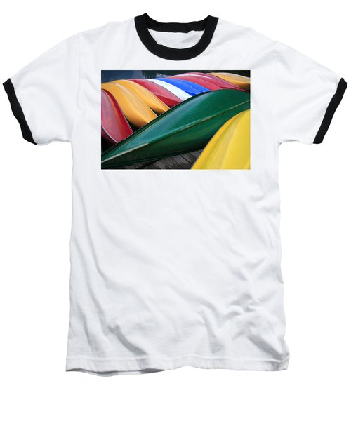 Colorful Canoes Baseball T-Shirt