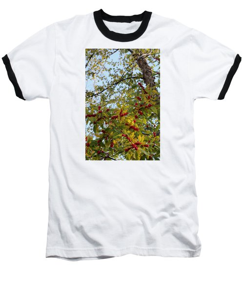 Baseball T-Shirt featuring the photograph Colorful Contrasts by Deborah  Crew-Johnson