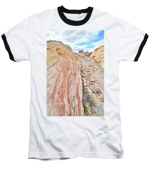 Colorful Crest In Valley Of Fire Baseball T-Shirt by Ray Mathis