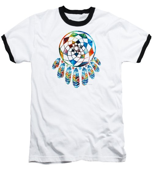 Colorful Dream Catcher By Sharon Cummings Baseball T-Shirt by Sharon Cummings