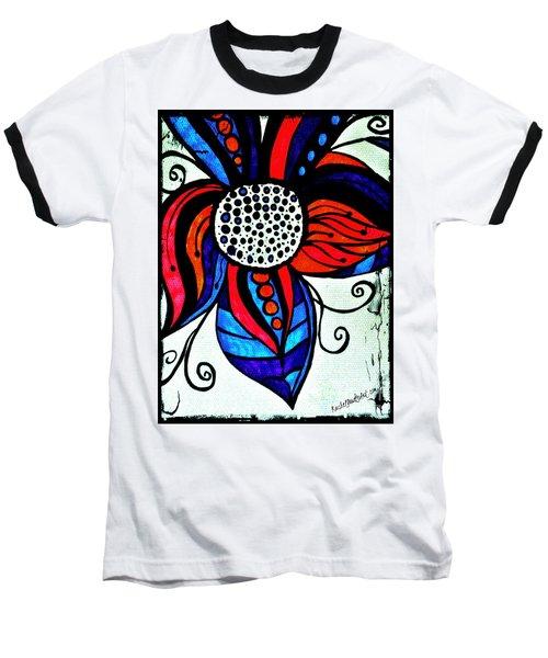 Colorful Flower Baseball T-Shirt