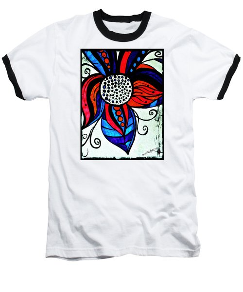 Colorful Flower Baseball T-Shirt