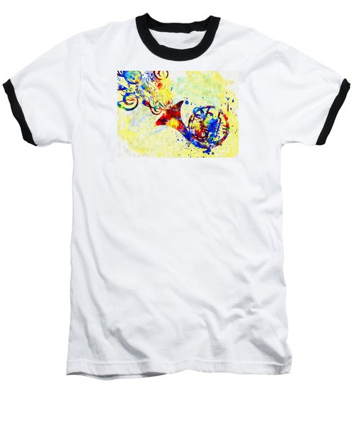 Colorful French Horn Baseball T-Shirt