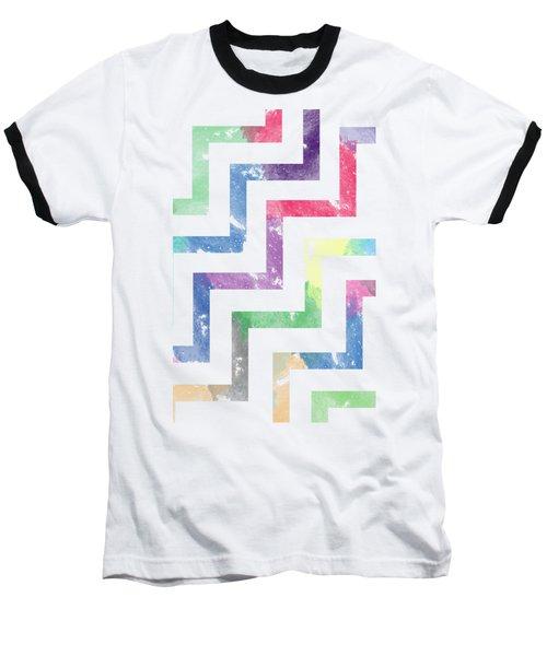 Colorful Geometric Patterns Vi Baseball T-Shirt
