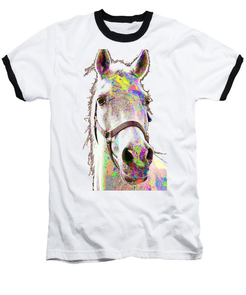Colorful Horse Baseball T-Shirt