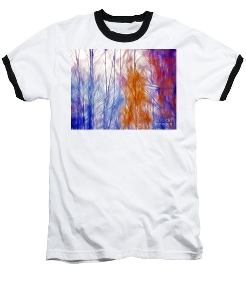 Colorful Misty Forest  Baseball T-Shirt
