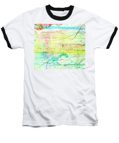 Colorful Pastel Art - Mixed Media Abstract Painting Baseball T-Shirt