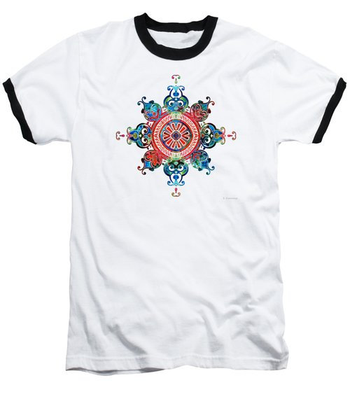 Colorful Pattern Art - Color Fusion Design 3 By Sharon Cummings Baseball T-Shirt
