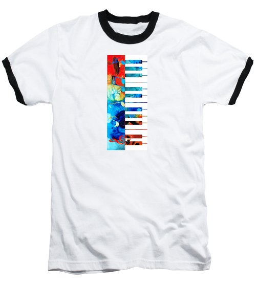 Colorful Piano Art By Sharon Cummings Baseball T-Shirt by Sharon Cummings
