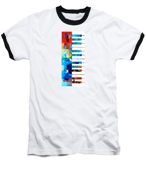 Colorful Piano Art By Sharon Cummings Baseball T-Shirt