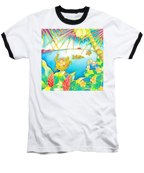 Baseball T-Shirt featuring the painting Colorful Tropics 7 by Hisayo Ohta