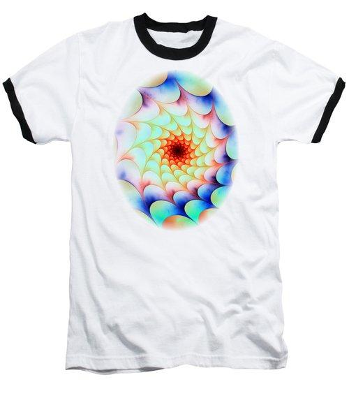 Colorful Web Baseball T-Shirt by Anastasiya Malakhova