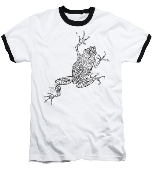 Coloring Page With Beautiful Frog Drawing By Megan Duncanson Baseball T-Shirt