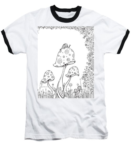 Coloring Page With Beautiful In The Garden 8 Drawing By Megan Duncanson Baseball T-Shirt