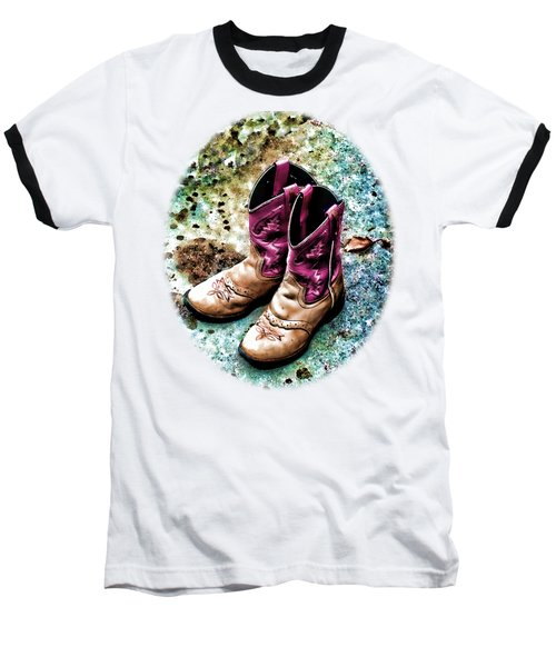 Colors Of A Cowgirl Oval White Baseball T-Shirt