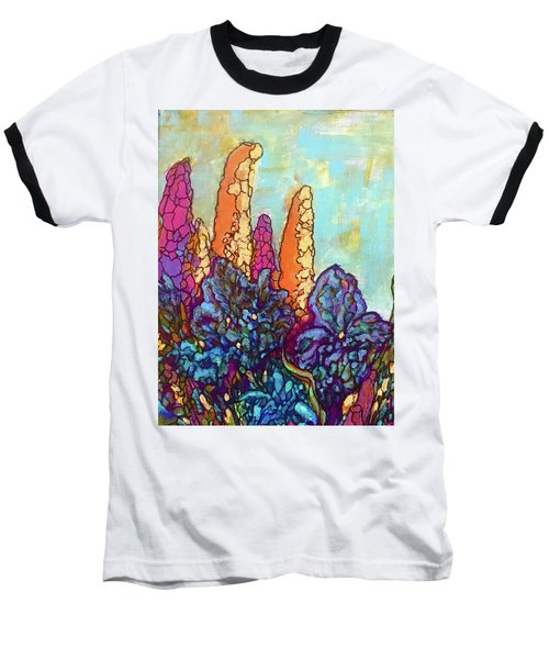 Baseball T-Shirt featuring the painting Colorwild by Rae Chichilnitsky