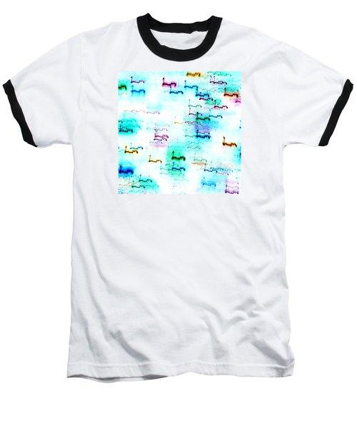 Colour Light Abstraction Invert Baseball T-Shirt