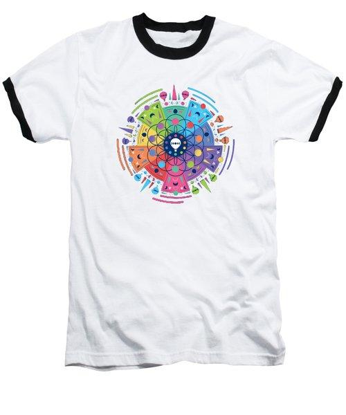 Colourful Of Stars Baseball T-Shirt